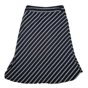 TALBOTS Blue White Striped Skirt Size XL